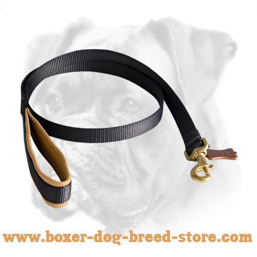 Nylon Boxer Leash with Support Material on The Handle