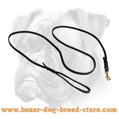 New Braided Leather Leash for Boxer