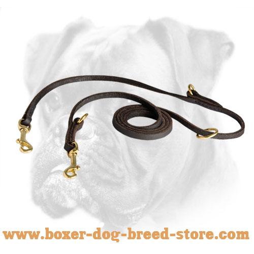 High Quality Leather Boxer Leash