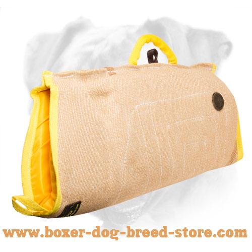 Boxer Puppy sleeve made of strong yet safe for your dog or puppy jute