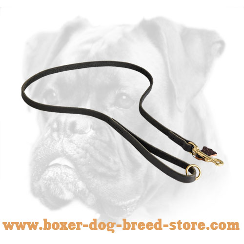 Durable Boxer Leash with Optional O-ring on The Handle