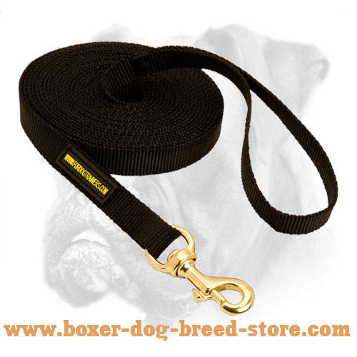 All Weather Nylon Boxer Leash for Training - Click Image to Close