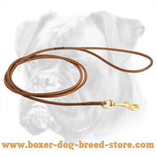 Gorgeous Dog Shows Round Leather Boxer Leash
