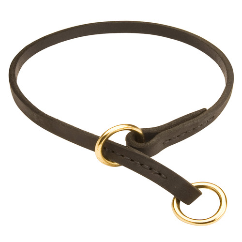 Silent Leather Training Choke Collar for Boxer Breed