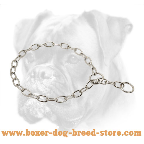 Chrome Plated Boxer Collar for Daily Training - 1/8 inch (3.2 mm)