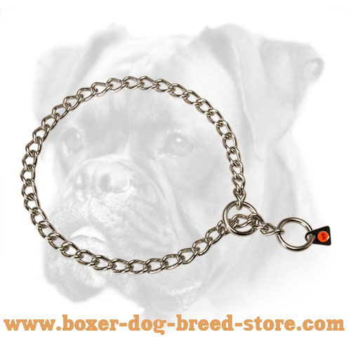 Stainless Steel Choke Boxer Collar of High Quality - 1/9 inch (3 mm)