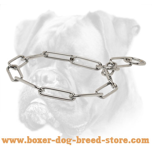 Chrome Plated Fur Saver Boxer Collar - 1/6 inch (4.0 mm)