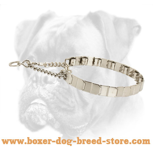 New Boxer Neck Tech Collar of Stainless Steel - 24 inch (60 cm) in length