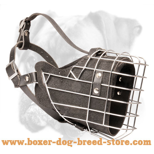 Fully Padded Wire Basket Boxer Muzzle