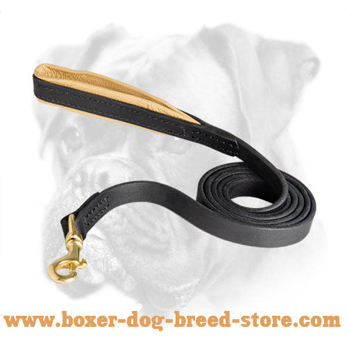 Soft nappa padded handle for Boxer leash