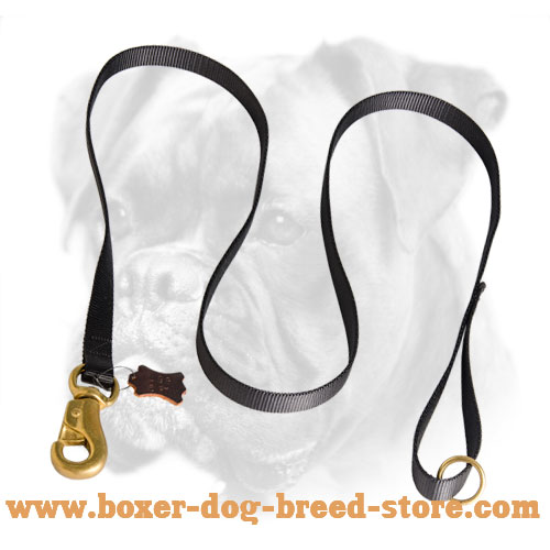 Nylon Boxer Dog Leash for Police Training