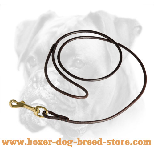 Boxer Leather Leash with Comfy Handle