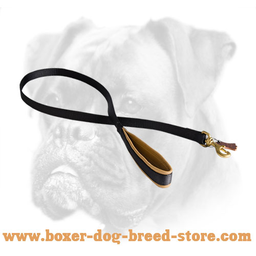 Nylon dog leash for Boxer with Brass Snap Hook