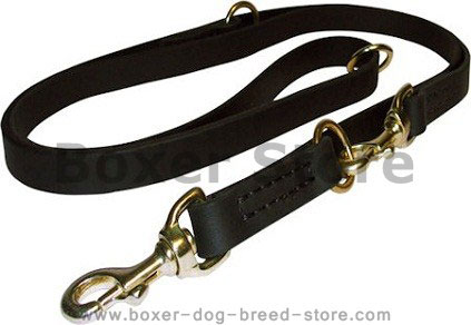 Right Leather Police Agitation Lead 5,7 FT for Boxer training