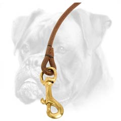 Reliable brass snap hook for Boxer lead