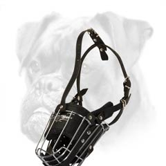 Anti-barking wire cage muzzle for Boxer