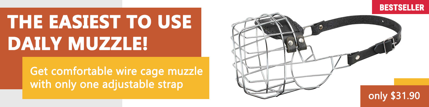 Free Panting and Breathing Wire Basket Dog Muzlle for Boxer